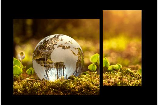 Модульная картина Природа Земли