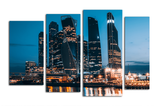 Модульная картина Московские огни